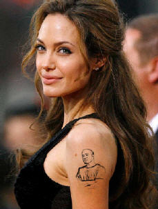 angelina tattoo